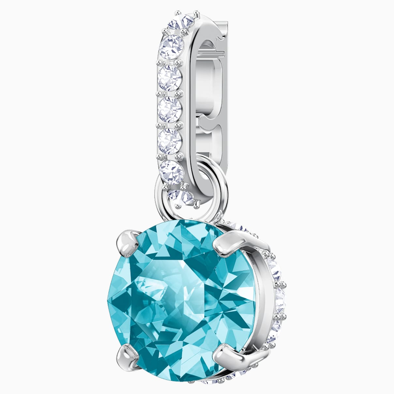 Swarovski Swarovski Remix Collection Charm, December, Blue, Rhodium plated