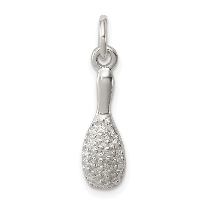 Quality Gold Sterling Silver Brush Charm