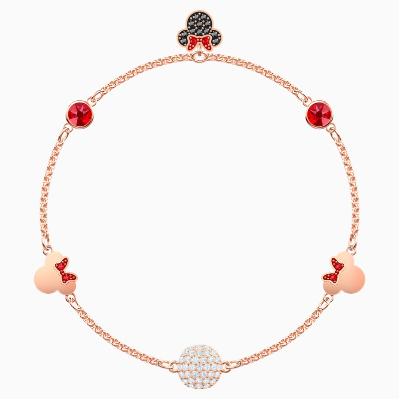 Swarovski Swarovski Remix Collection Minnie Strand, Multi-colored, Rose-gold tone plated