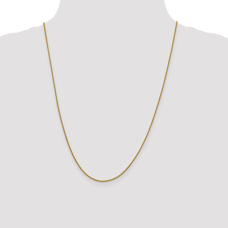 Leslie's Leslie's 14K 1 mm Quadra Wheat Chain