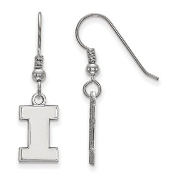 Sterling Silver University of Illinois NCAA Earrings