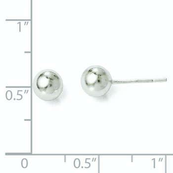 Leslie's Sterling Silve 6mm Polished Ball Post Earrings