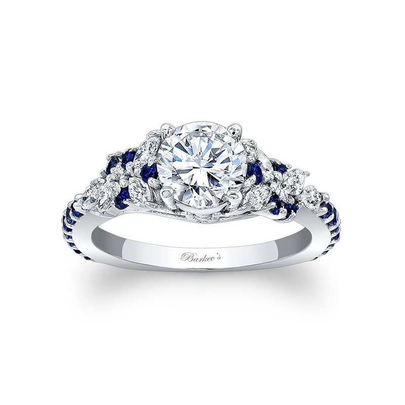 Barkev's Engagement Ring With Blue Sapphires