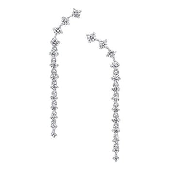 Linear Diamond Drop Earrings in 10K White Gold (1/2 ct. tw.)
