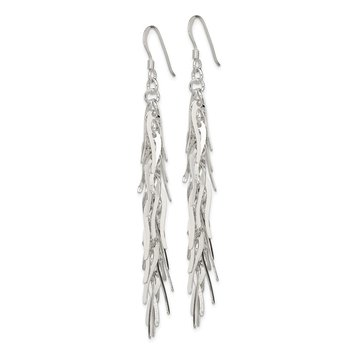 Sterling Silver Drop Squiggle Earrings