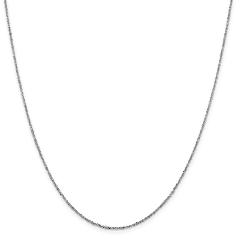 Leslie's Leslie's 14K White Gold 1.3mm Sparkle Singapore Chain