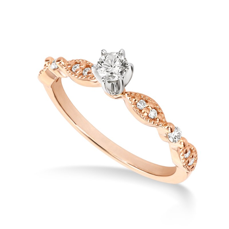 Victor Rose gold & diamond engagement