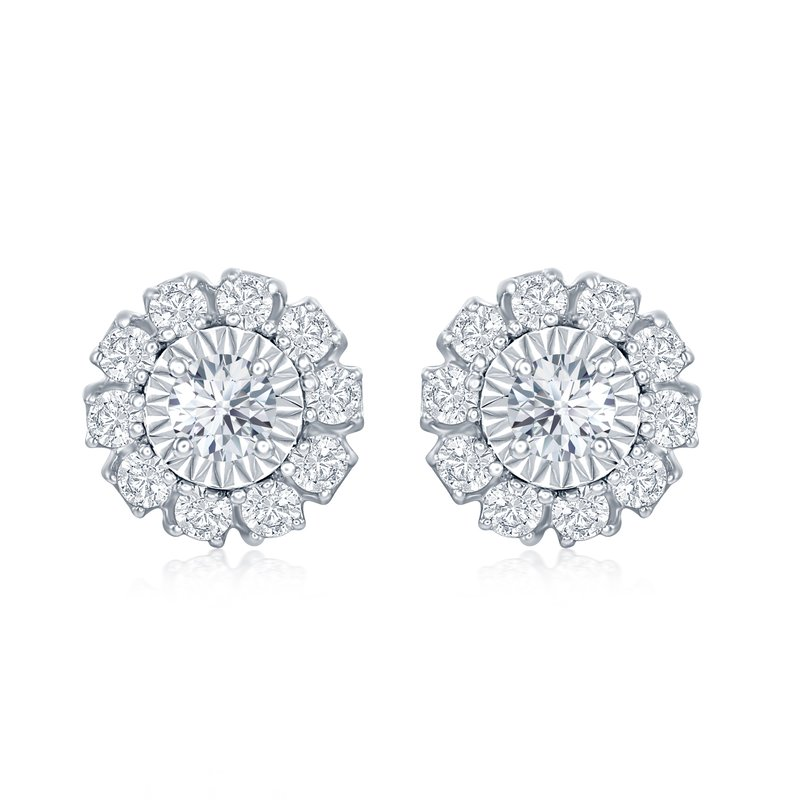 Veer Diamonds ROUND MIRACLE FLOWER EARRINGS