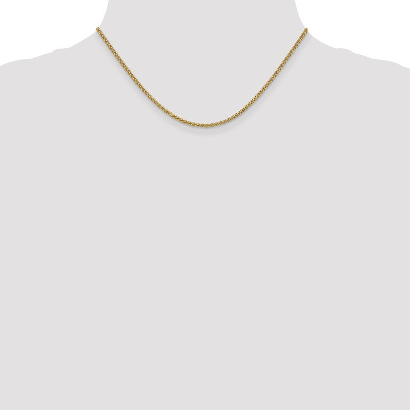 Leslie's Italian Gold Leslie's 14K 2.1mm Spiga (Wheat) Chain