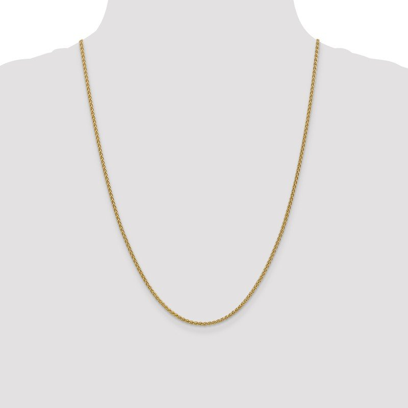 Leslie's Leslie's 14K 2.1mm Spiga (Wheat) Chain