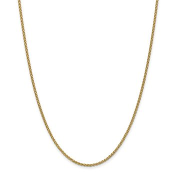 Leslie's 14K 2.1mm Spiga (Wheat) Chain