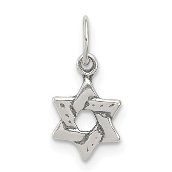 Sterling Silver Small Star of David Charm