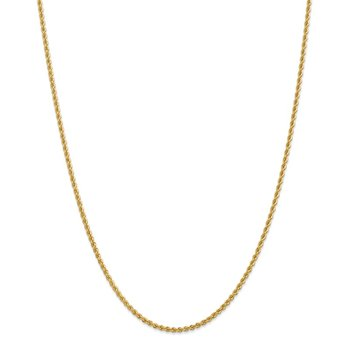 Leslie's 14K 2.25mm Solid Regular Rope Chain
