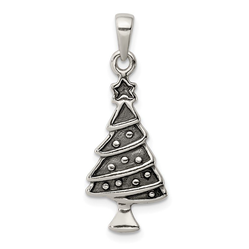 Quality Gold Sterling Silver Christmas Tree Pendant