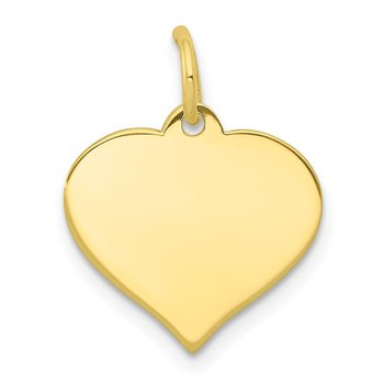 10k .013 Gauge Heart Disc Charm