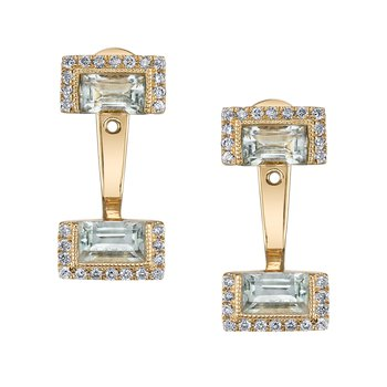 MARS 26933 Fashion Earrings, 0.25 Dia. 1.22 G Ameth.