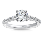 Valina Bridals Diamond Engagement Ring Mounting in 14K White Gold (.32 ct. tw.)