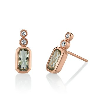 MARS 27238 Bezel Stud Earrings, 0.08 Dia, 0.97 Gr Am.