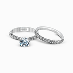 Simon G TR431 WEDDING SET