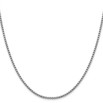 Leslie's 14K White Gold 2.4 mm D/C Round Box Chain
