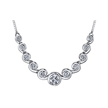 Maple Leaf Diamond Tides of Love Necklace