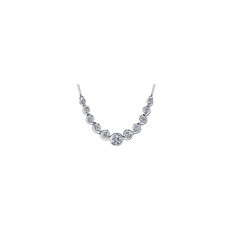 Maple Leaf Diamonds Maple Leaf Diamond Tides of Love Necklace