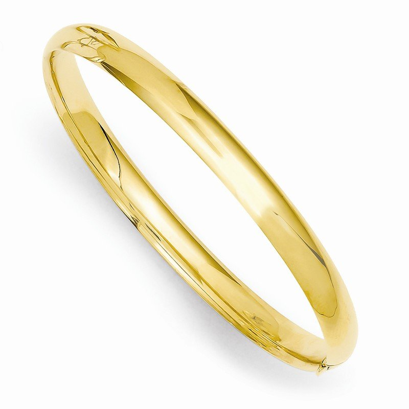 Quality Gold 14k 3/16 Polished Hinged Baby Bangle
