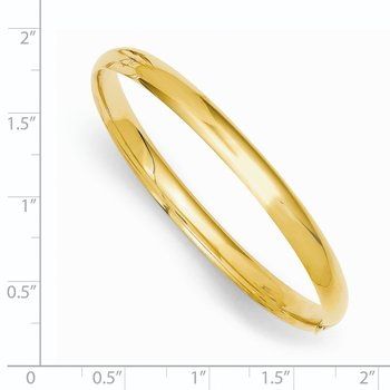 14k 3/16 Polished Hinged Baby Bangle