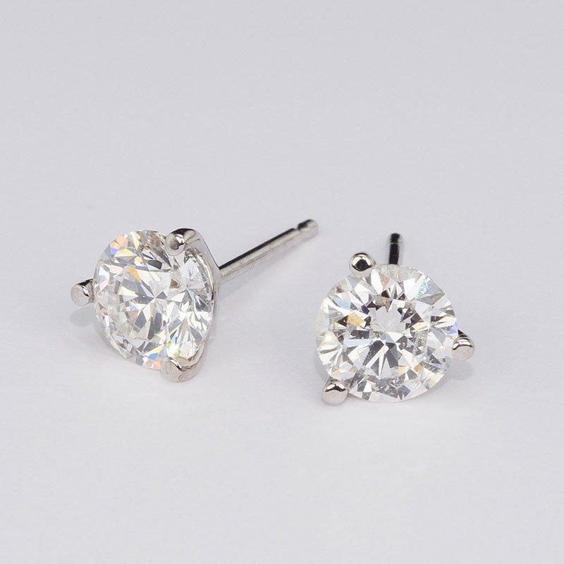 Gn Diamond 3 Cttw Stud Earrings