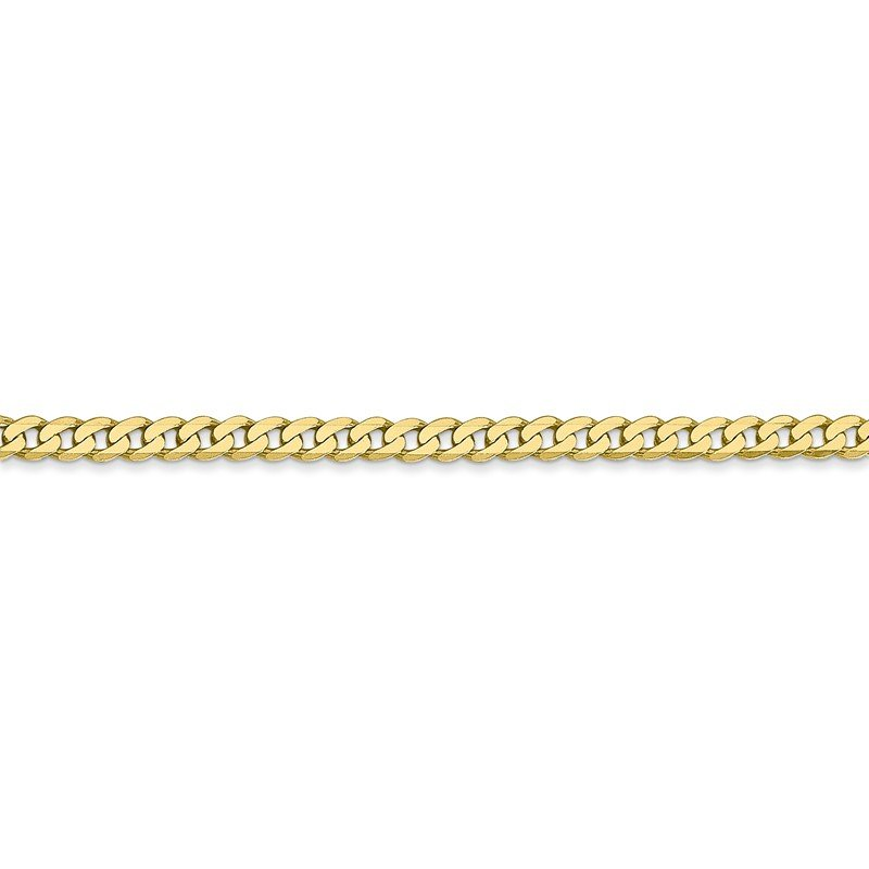 Quality Gold 10k 2.9mm Flat Beveled Curb Chain