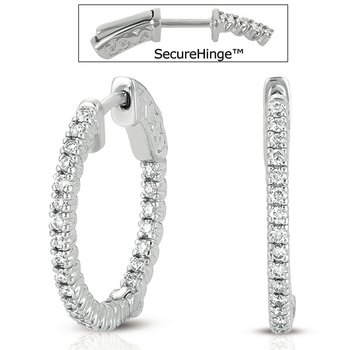 3/4  Securehinge Hoop Earring