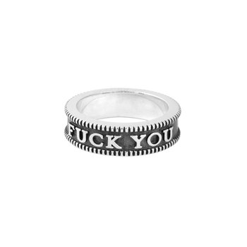 Fuck You Coin Edge Stackable Ring
