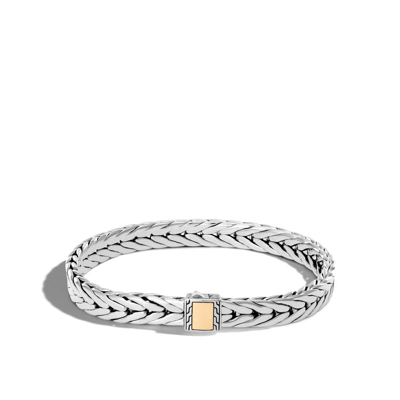 JOHN HARDY Modern Chain 9MM Bracelet in Silver and 18K Gold