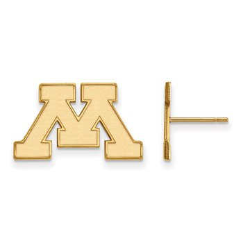 Gold University of Minnesota NCAA Earrings