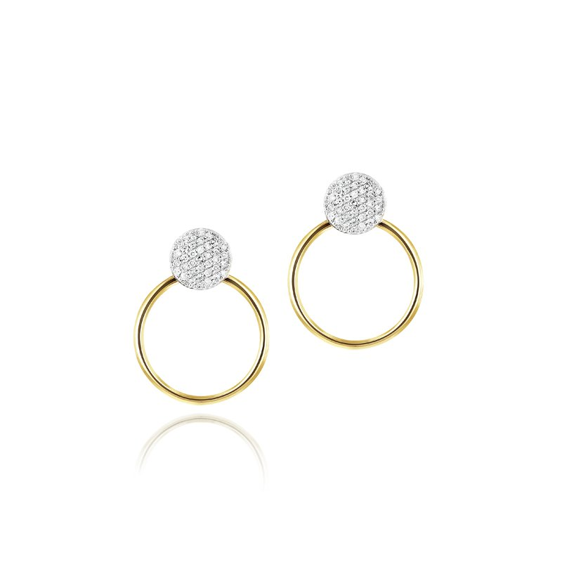 Phillips House Infinity Earrings with Gold Jackets