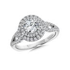 Valina Double Halo Engagement Ring Mounting in 14K White Gold (.56 ct. tw.)