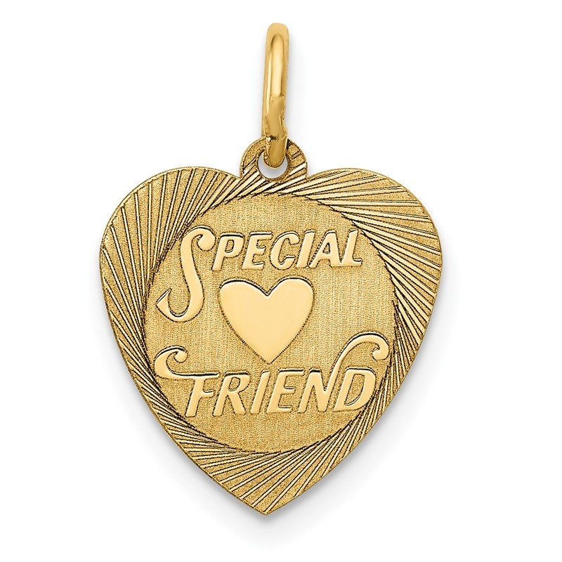 Quality Gold 14K Special Friend Charm