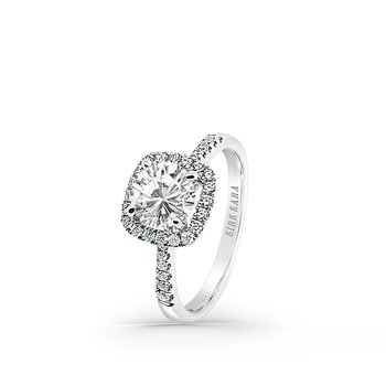 Classic Halo Diamond Engagement Ring