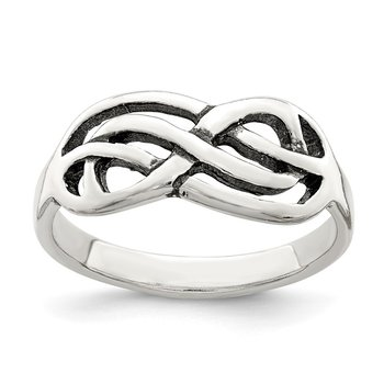 Sterling Silver Antiqued Knot Ring