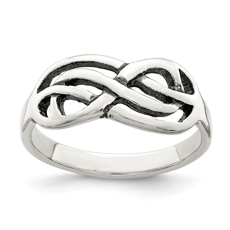 Quality Gold Sterling Silver Antiqued Knot Ring