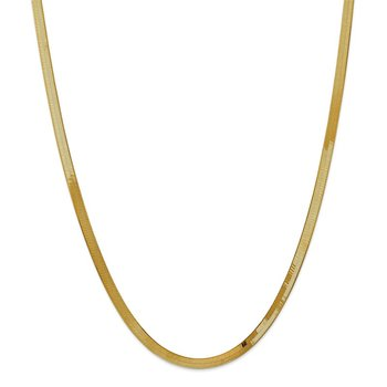 14k 4mm Silky Herringbone Chain