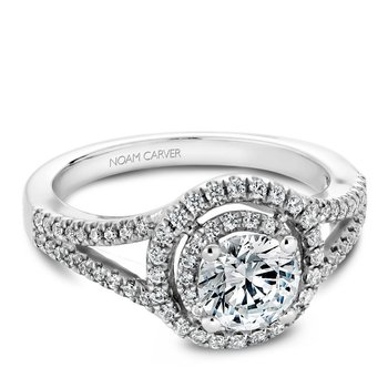 Noam Carver Modern Engagement Ring B100-01A
