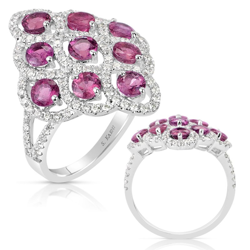 S. Kashi  & Sons Ruby & Diamond Fashion Ring