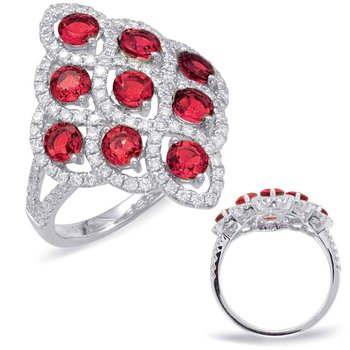 Ruby & Diamond Fashion Ring