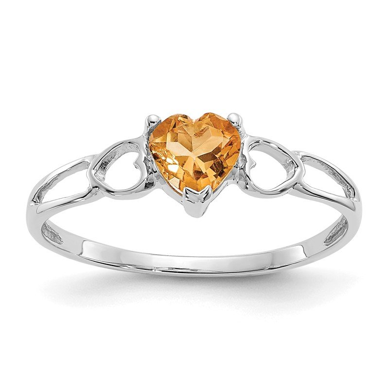 Quality Gold 14k White Gold Citrine Birthstone Ring