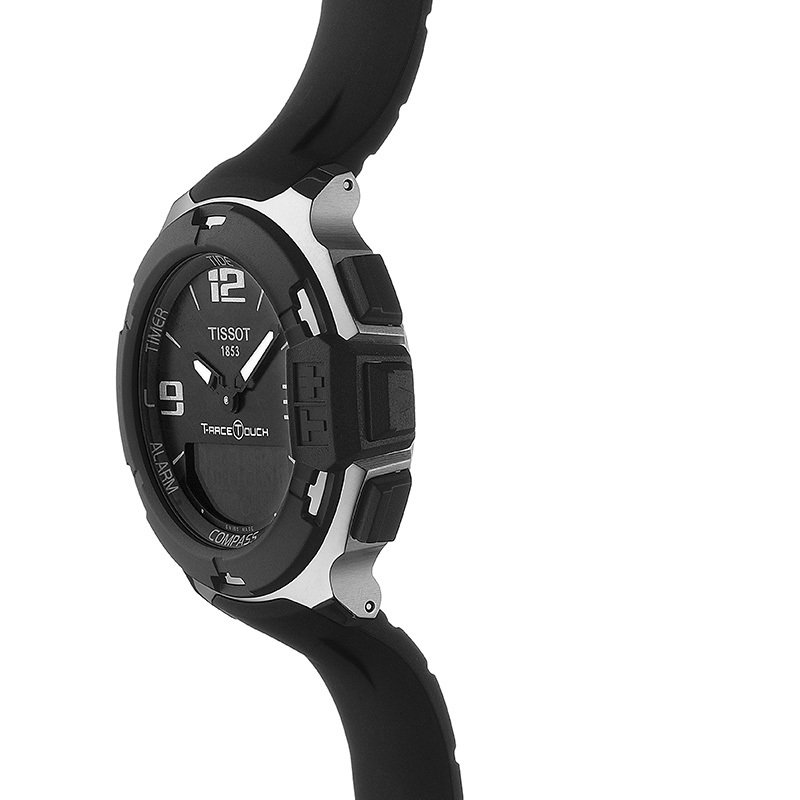 Tissot T-Race Touch Men's Black and Silver  Quartz  Watch With Black Synthetic Strap