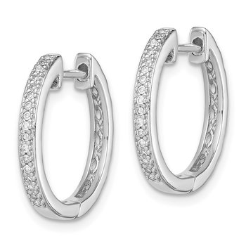 Sterling Silver Rhodium Diam. Earrings