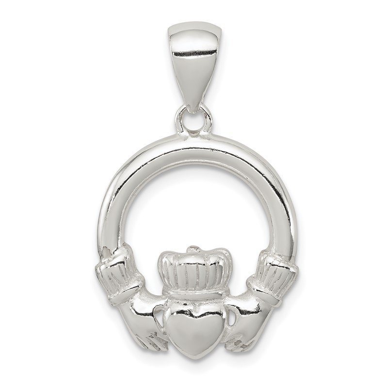 Quality Gold Sterling Silver Claddagh Pendant