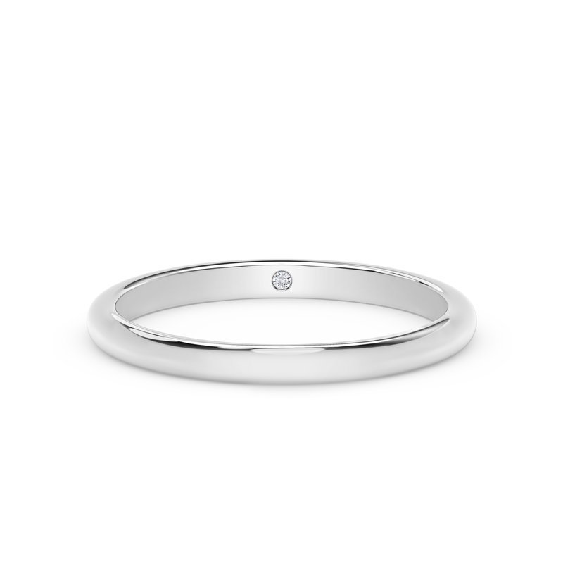 Forevermark Engagement and Commitment 2mm Dome Band