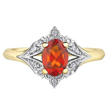 Fire Opal Ladies Ring